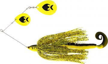 Westin Monster Vibe Colorado yellow tiger roofvis spinnerbait 65g