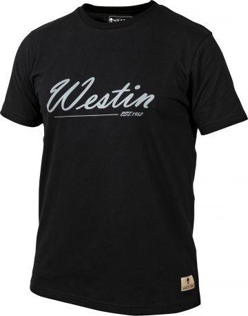 Westin Old School T-Shirt zwart - wit vis t-shirt Large