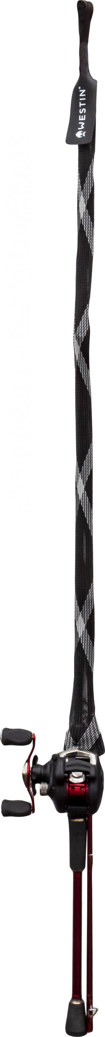 Westin Rod Cover Spin Split zwart - grijs roofvis visfoudraal 2m55