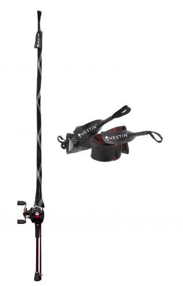 Westin Rod Cover Trigger Split Rod Up zwart - grijs roofvis visfoudraal 2m55