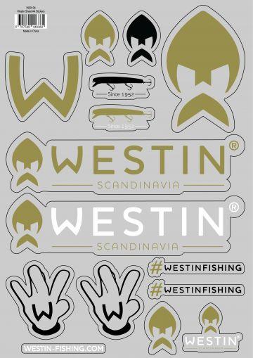 Westin Stickers A4 wit - goud verschillend artikel