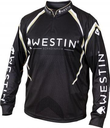 Westin Tournament Shirt zwart - wit - goud vis t-shirt Medium