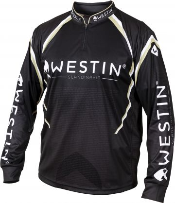 Westin Tournament Shirt zwart - wit - goud vis t-shirt Xl