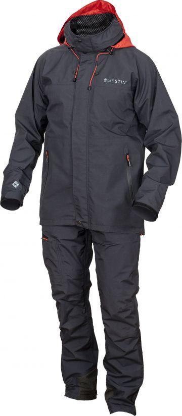 Westin W6 Rain Suit 2-Delig steel black visjas Large