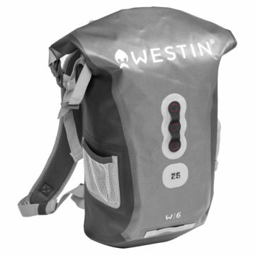 Westin W6 Roll-Top Backpack grijs roofvis roofvistas 25l
