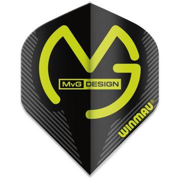 Winmau Mega Standard MvG Black noir - vert 75 Micron