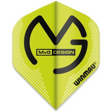 Winmau Mega Standard MvG Green noir - vert 75 Micron