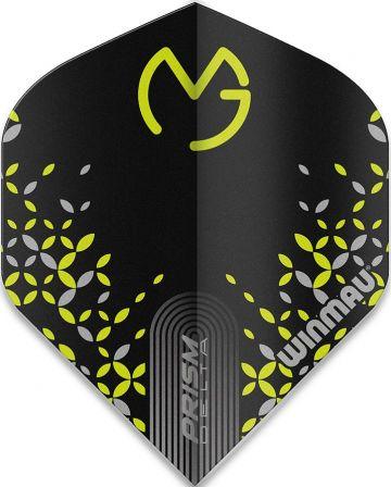 Winmau Prism Delta MVG Standard zwart - groen 100 Micron