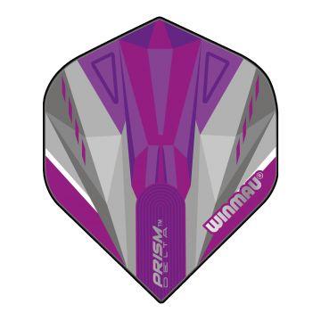 Winmau Prism Delta Purple & White Standard mauve 100 Micron